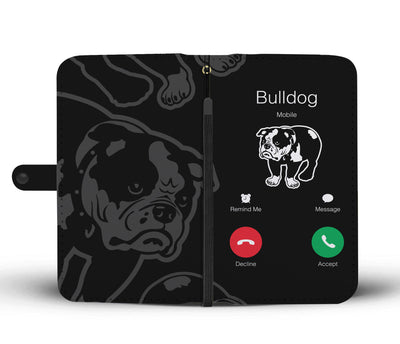 Incoming Bulldog Call Wallet Phone Case