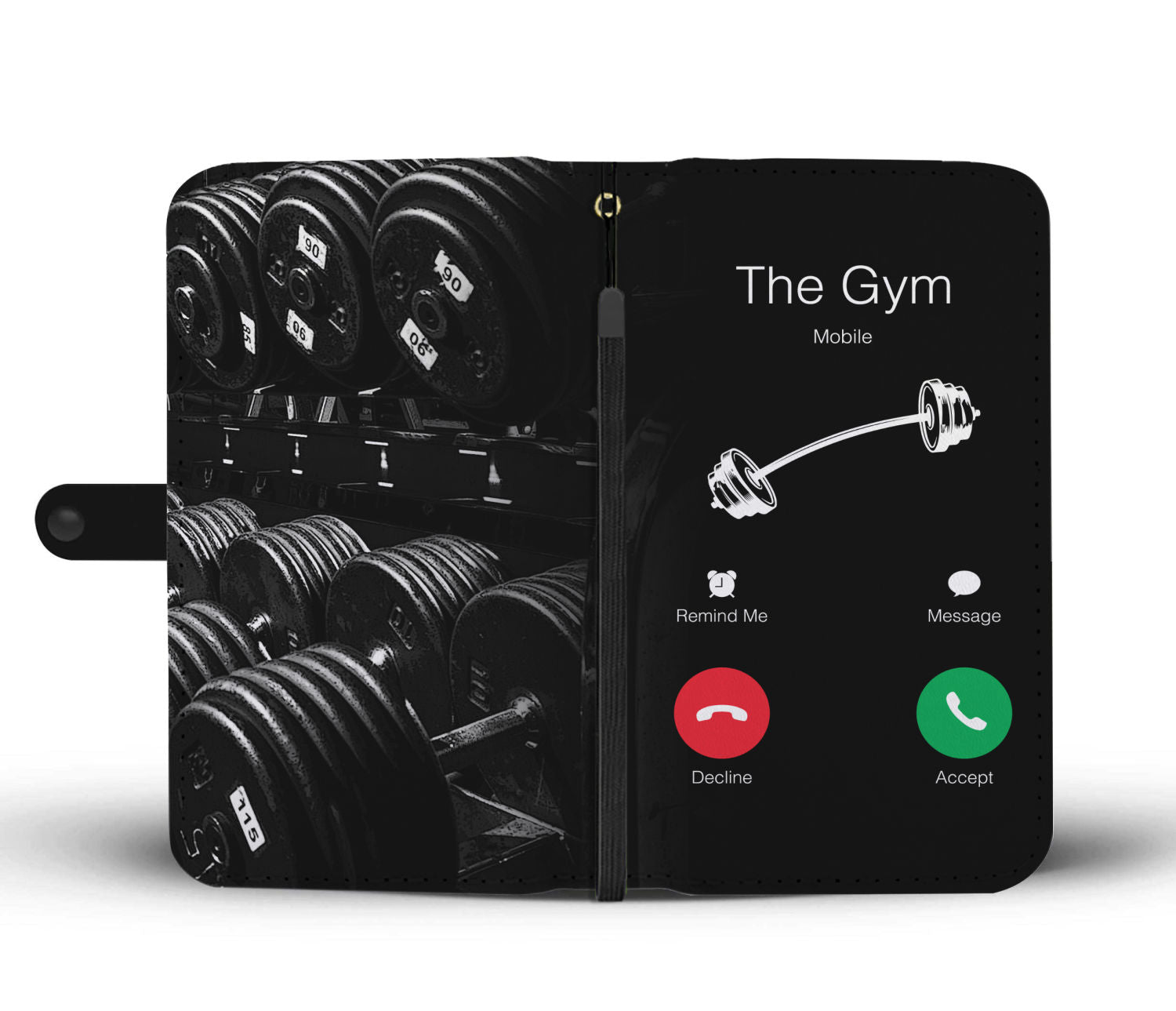 Gym Calling Wallet Phone Case