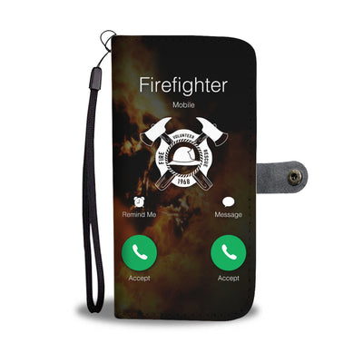 Accept Call Firefighter Wallet Phone Case