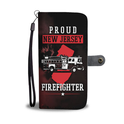 New Jersey Firefighter Wallet Phone Case