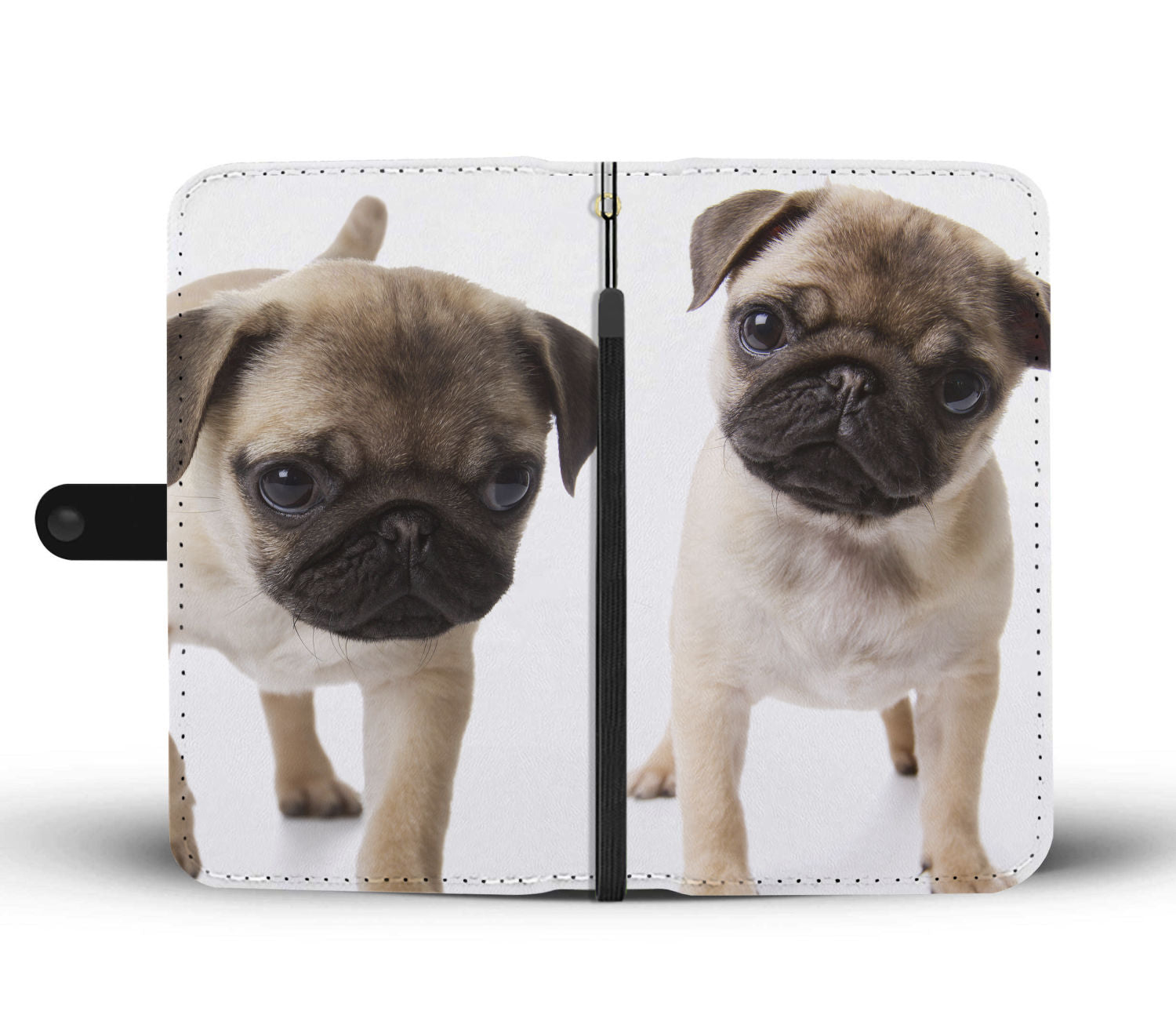 Pug Puppies Wallet Phone Case