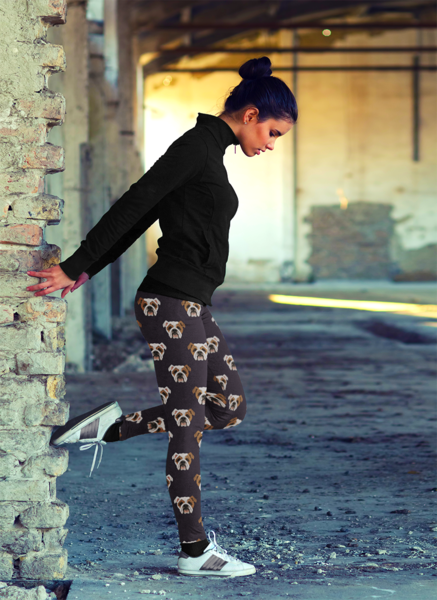 Bulldog Face Leggings