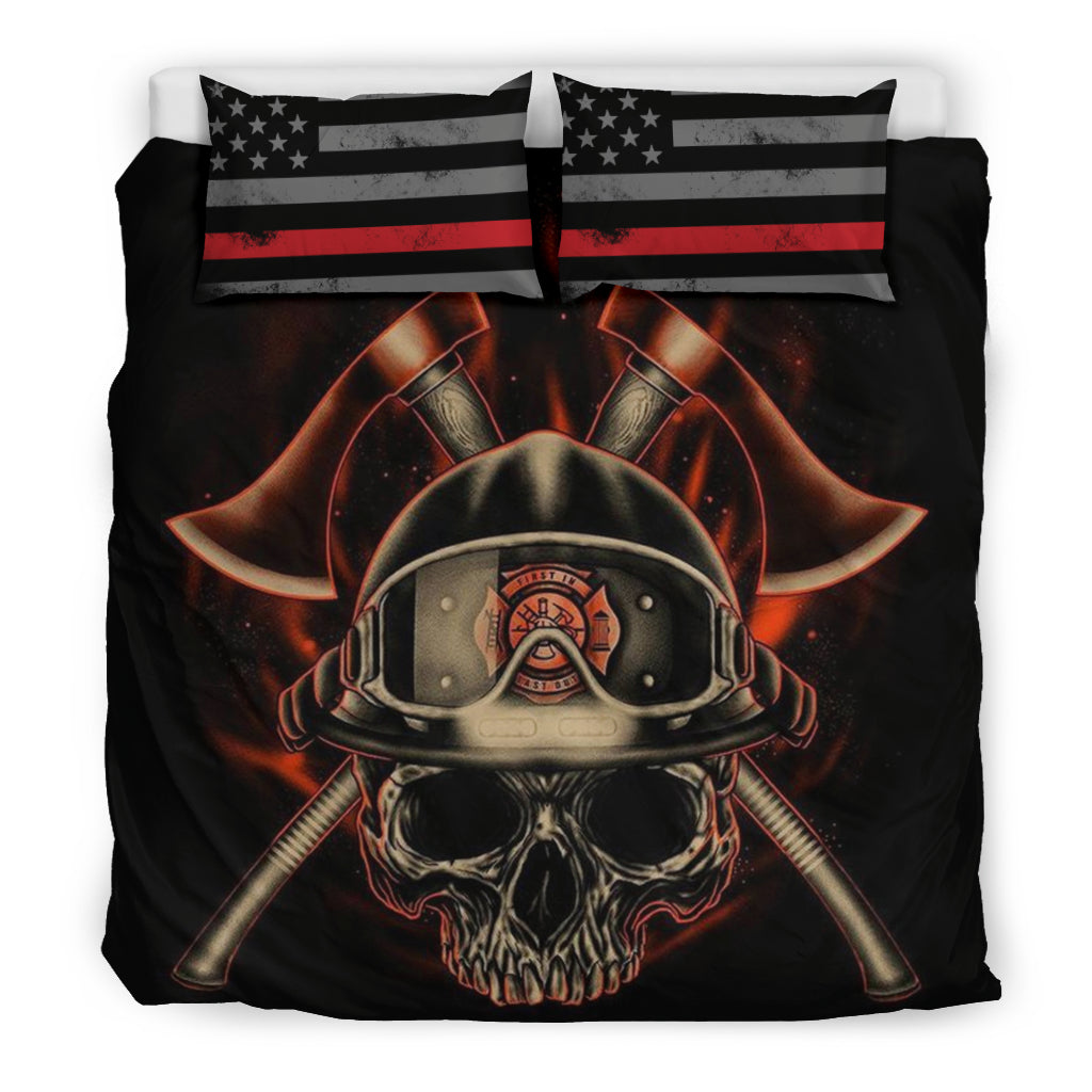 Proud Firefighter Bedding Sheet - firefighter bestseller