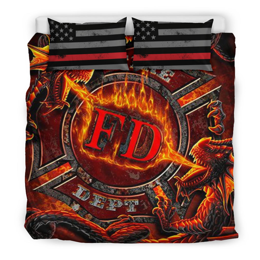 Fire Department Bedding Sheet - firefighter bestseller