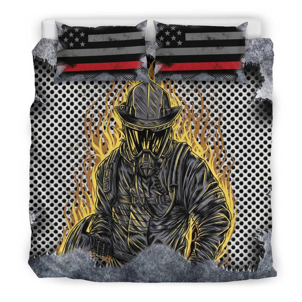 Fire Fighter Proud - Bedding Sheet - firefighter bestseller