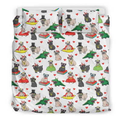 Costume Pugs Bedding Set