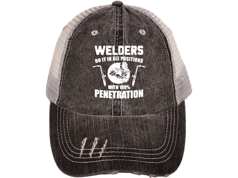 Welders Do It In All Positions Distressed Cap