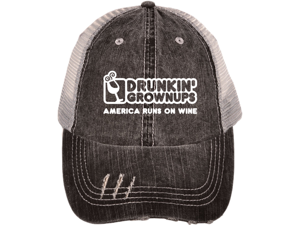 Drunkin Grownups Distressed Caps