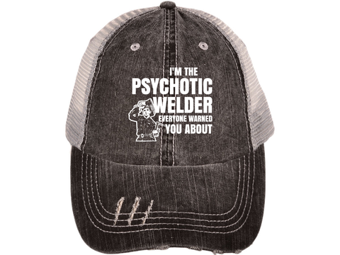Psychotic Welder Distressed Cap