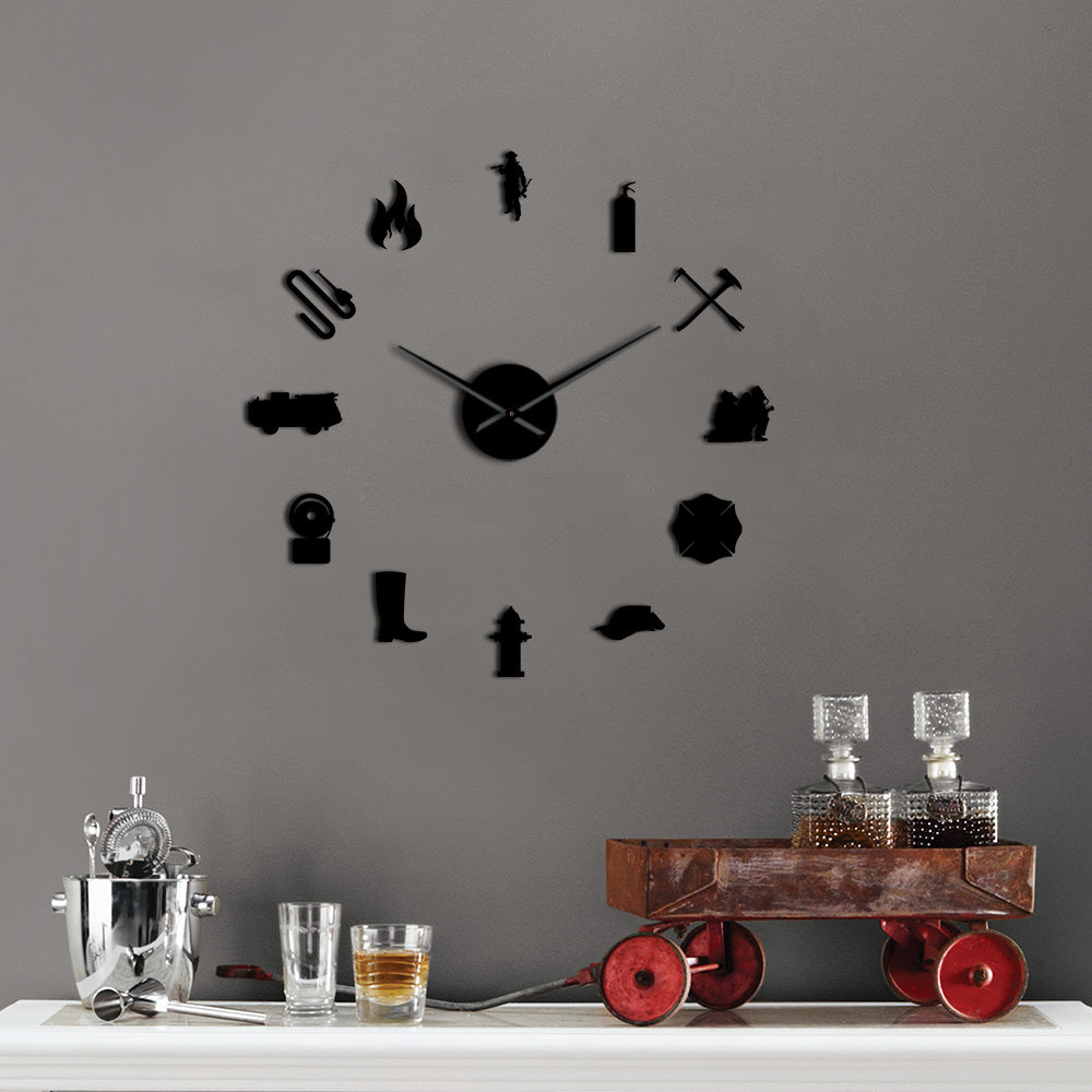 Firefighter Giant Wall Clock