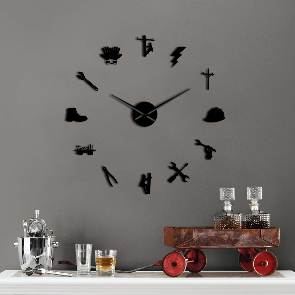 Lineman Giant Wall Clock - lineman bestseller