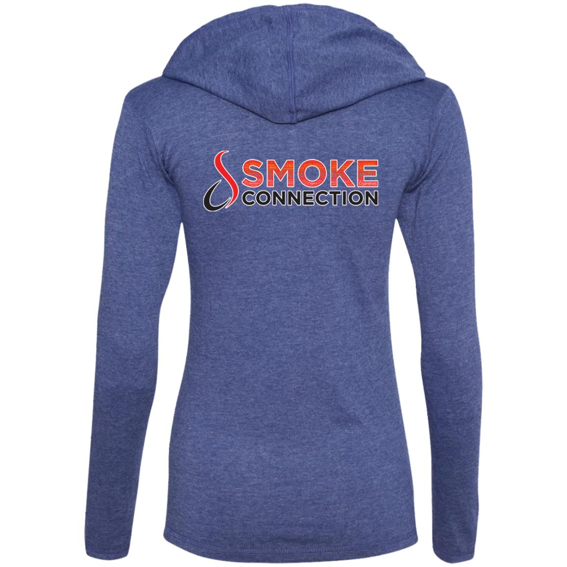 1LTHD4 Smoke Connection Ladies' LS T-Shirt Hoodie