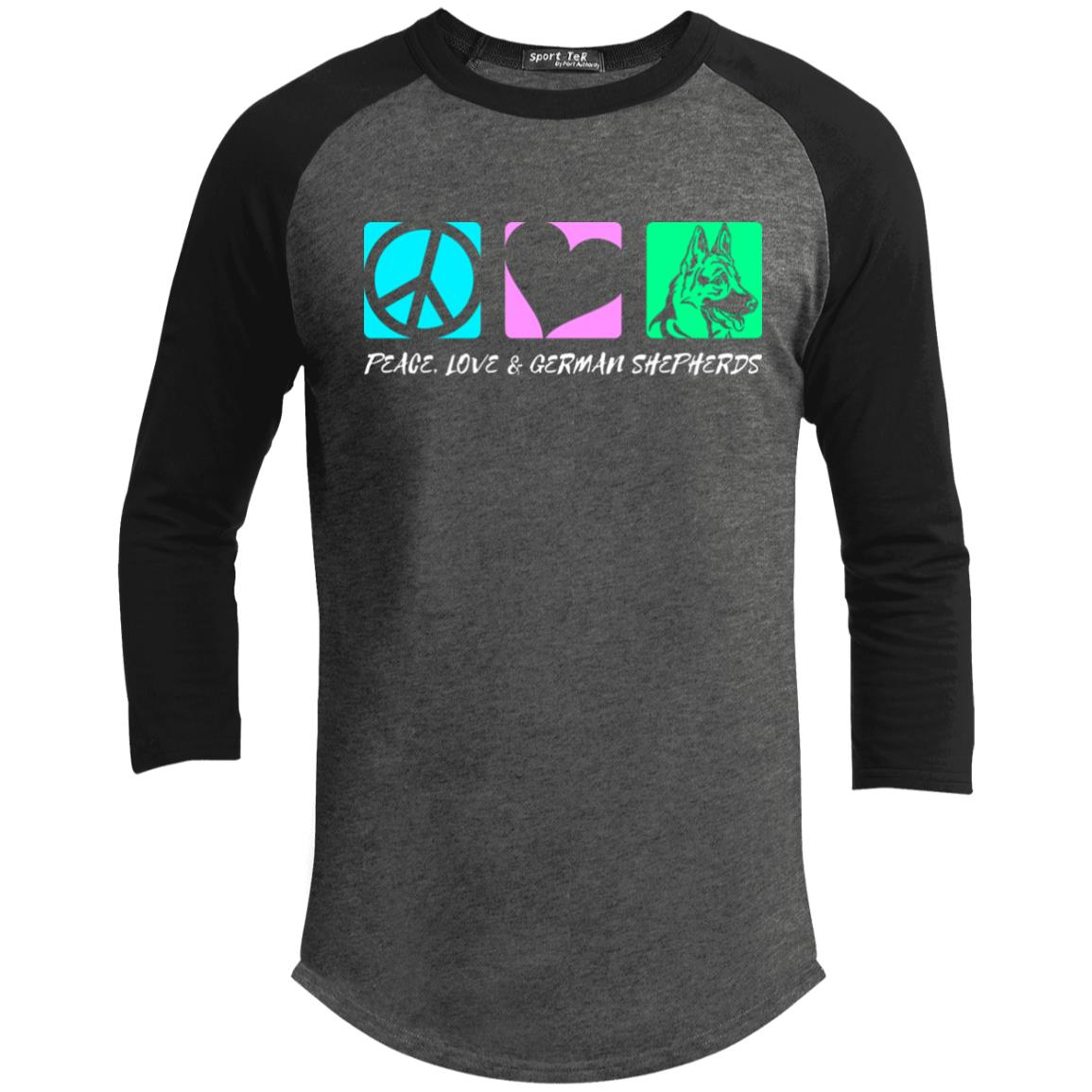 Peace Love German Shepherd Sporty T-Shirt