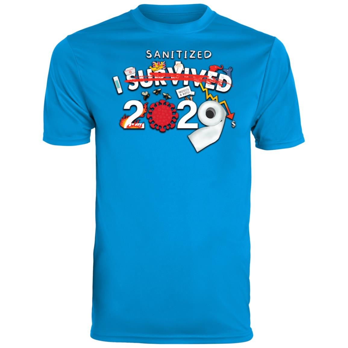 I Sanitized 2020 - Youth Wicking T-Shirt