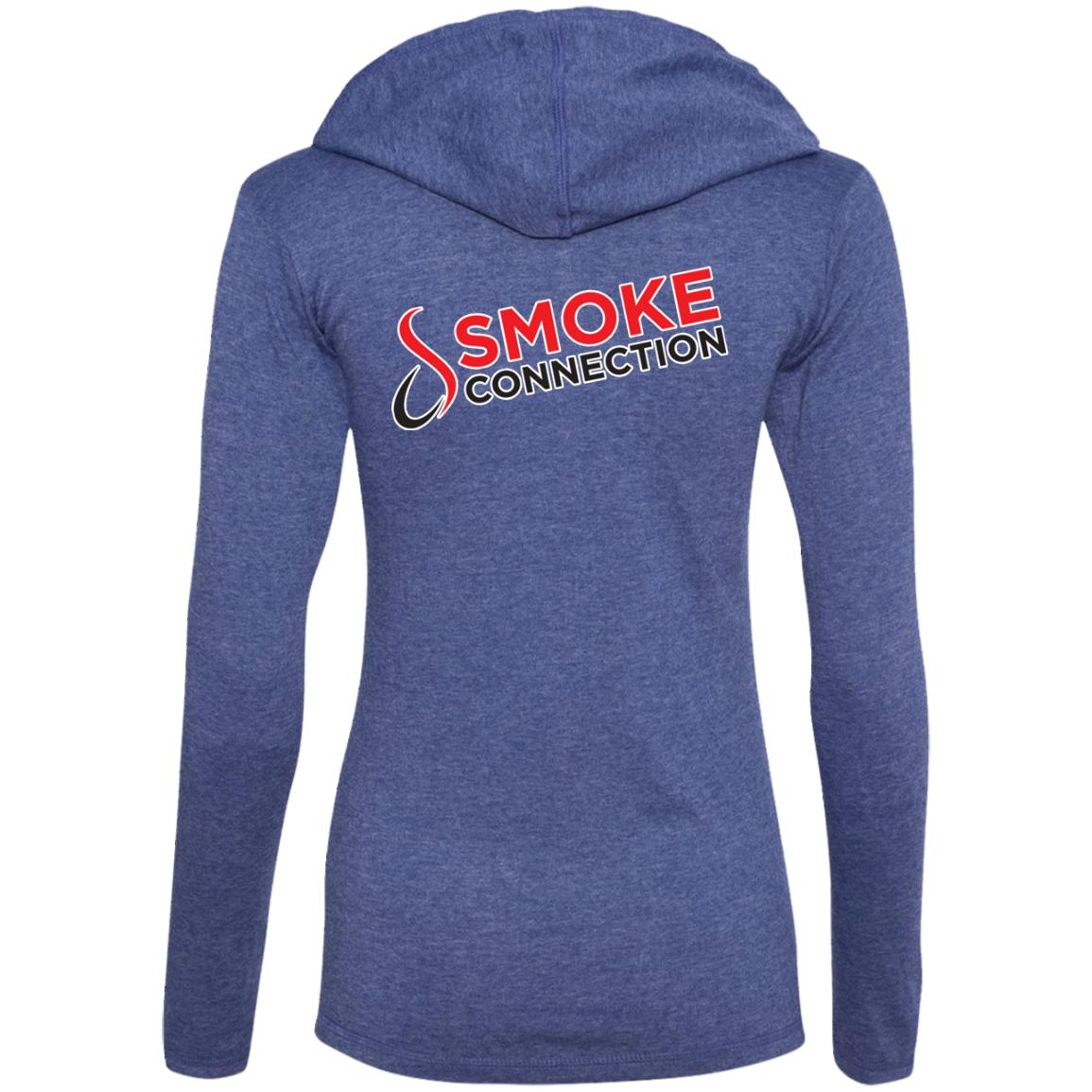 1LTHD5 Smoke Connection Ladies' LS T-Shirt Hoodie