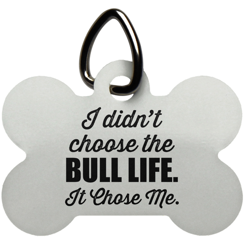 Bull Life Dog Bone Pet Tag