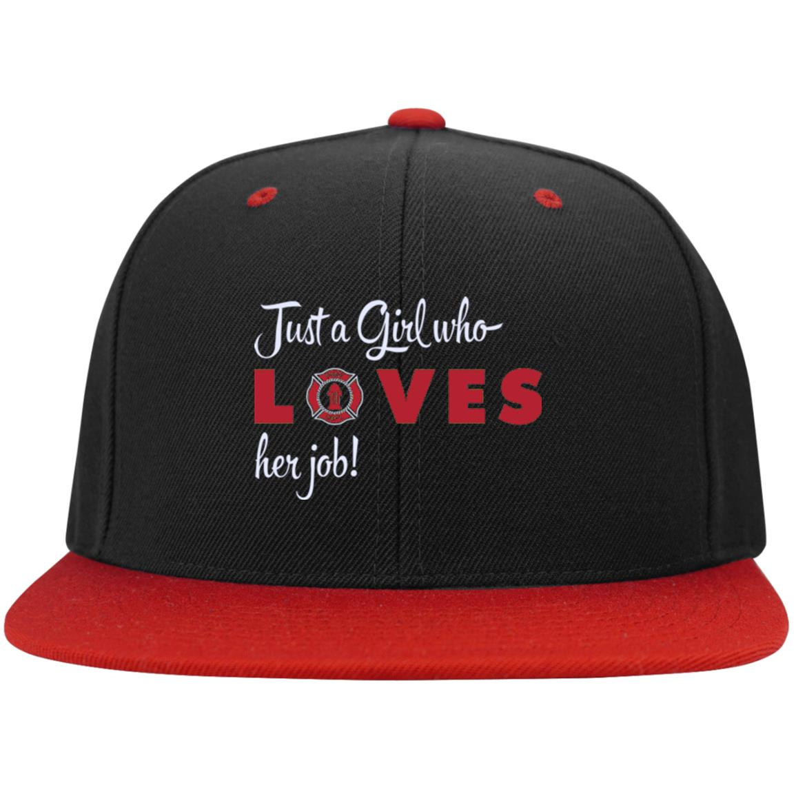 Just A Girl Who Loves Her Job Snapback Hat