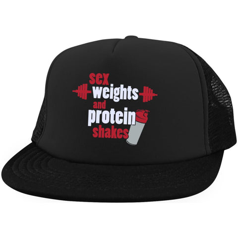 Sex Weights Protein Shakes Trucker Hat