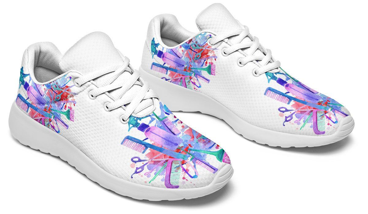 Watercolor Hair Art Sneakers