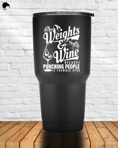 Weights and Wine - Tumbler