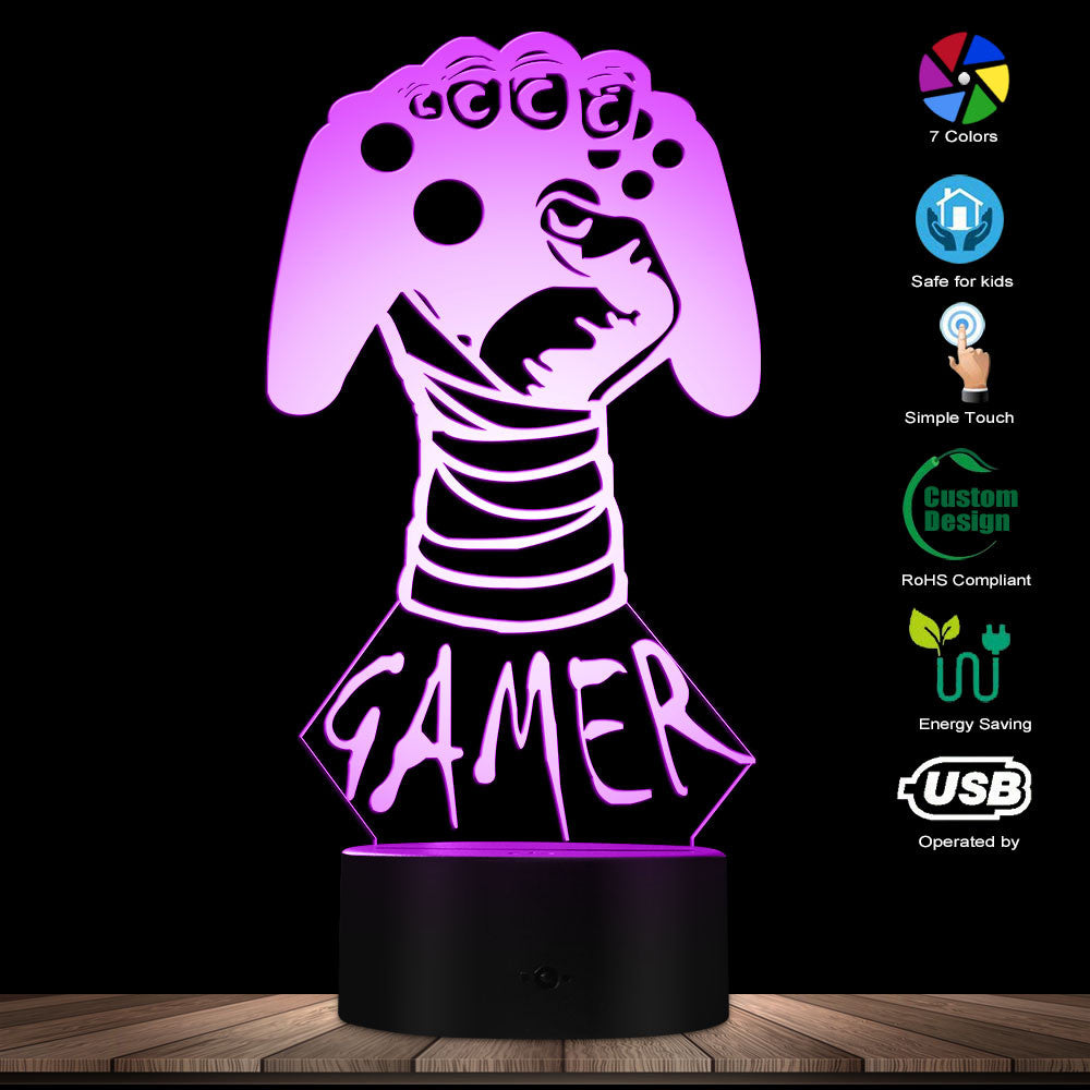 Custom Gamer 3D LED Night Light - gaming bestseller