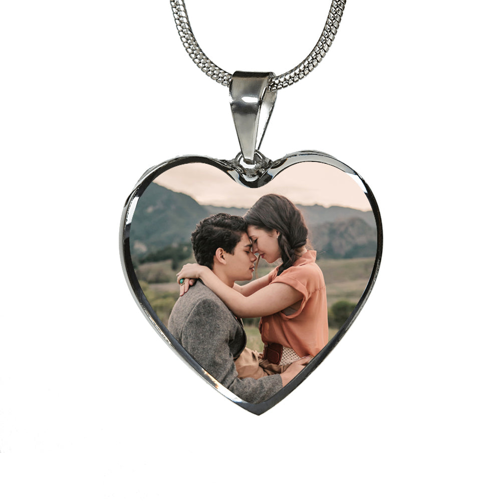 Custom Couples Heart Pendant