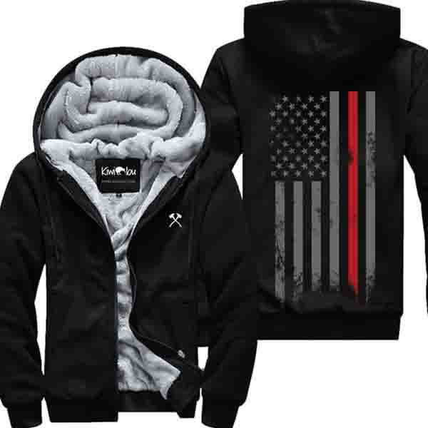 Firefighter Grunge Flag - Jacket