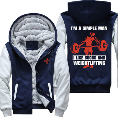 Simple Man I Like B@*B$ & Weightlifting - Gym Jacket