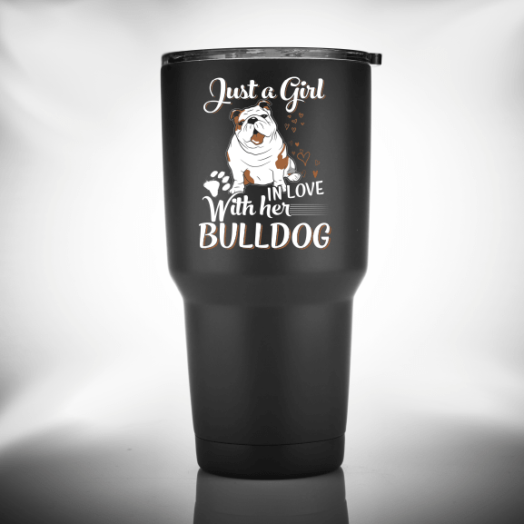 In Love With Her Bulldog - Tumbler - bulldog bestseller