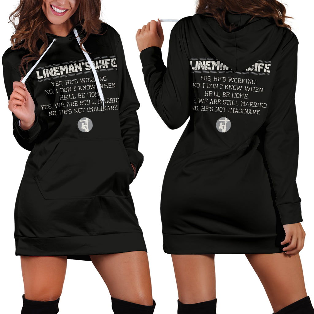 Lineman's Wife Hoodie Dress