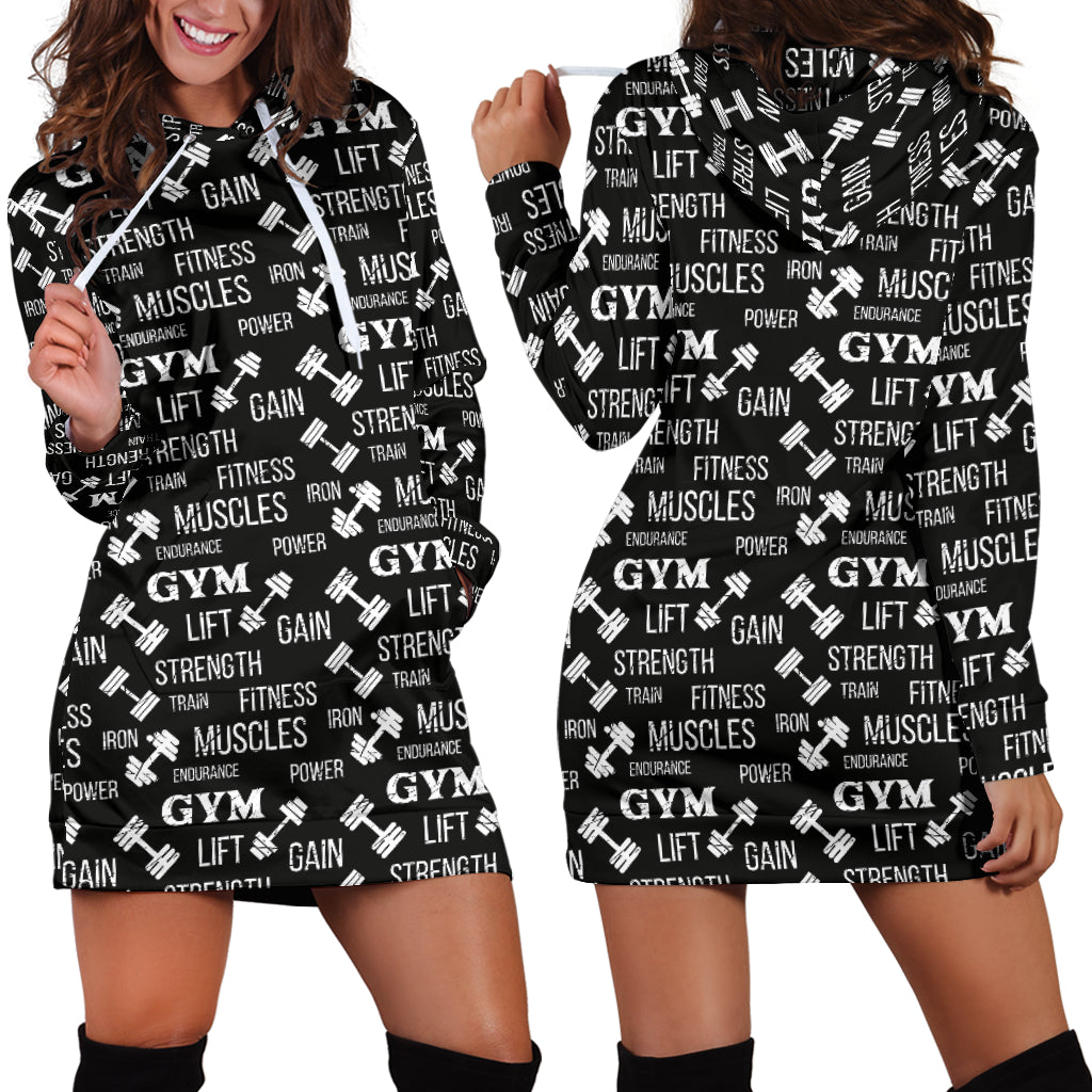 Gym Strength Hooded Dress