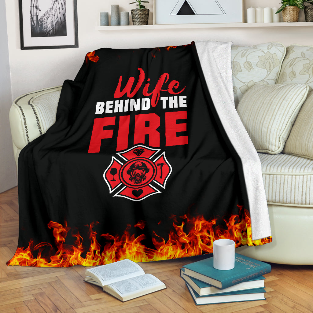 Wife Behind The Fire Premium Blanket
