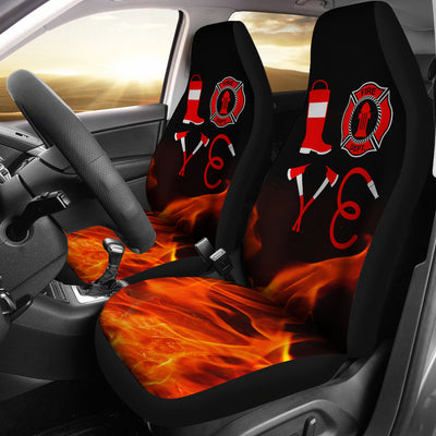 Love Firefighter Car Seat Covers (set of 2)