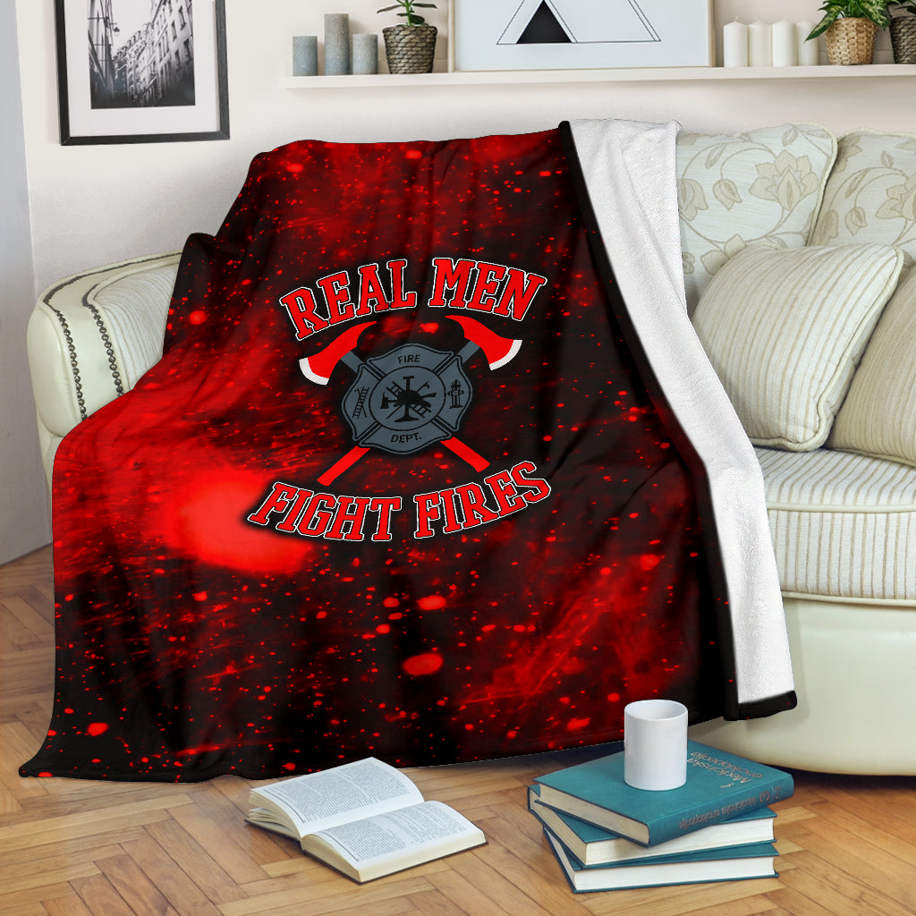 Real Men Fight Fires Premium Blanket