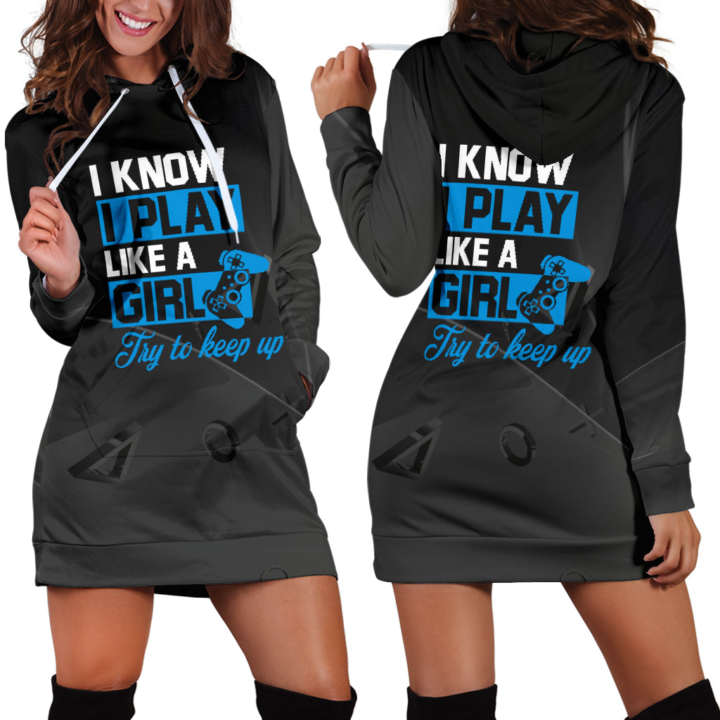 Play Like A Girl PS Hoodie Dress