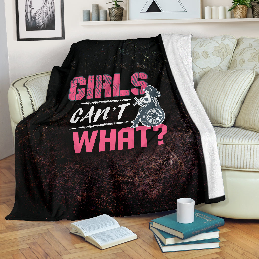Girls Can't What Premium Blanket