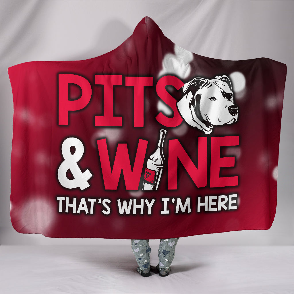 Pits and Wine Hooded Blanket