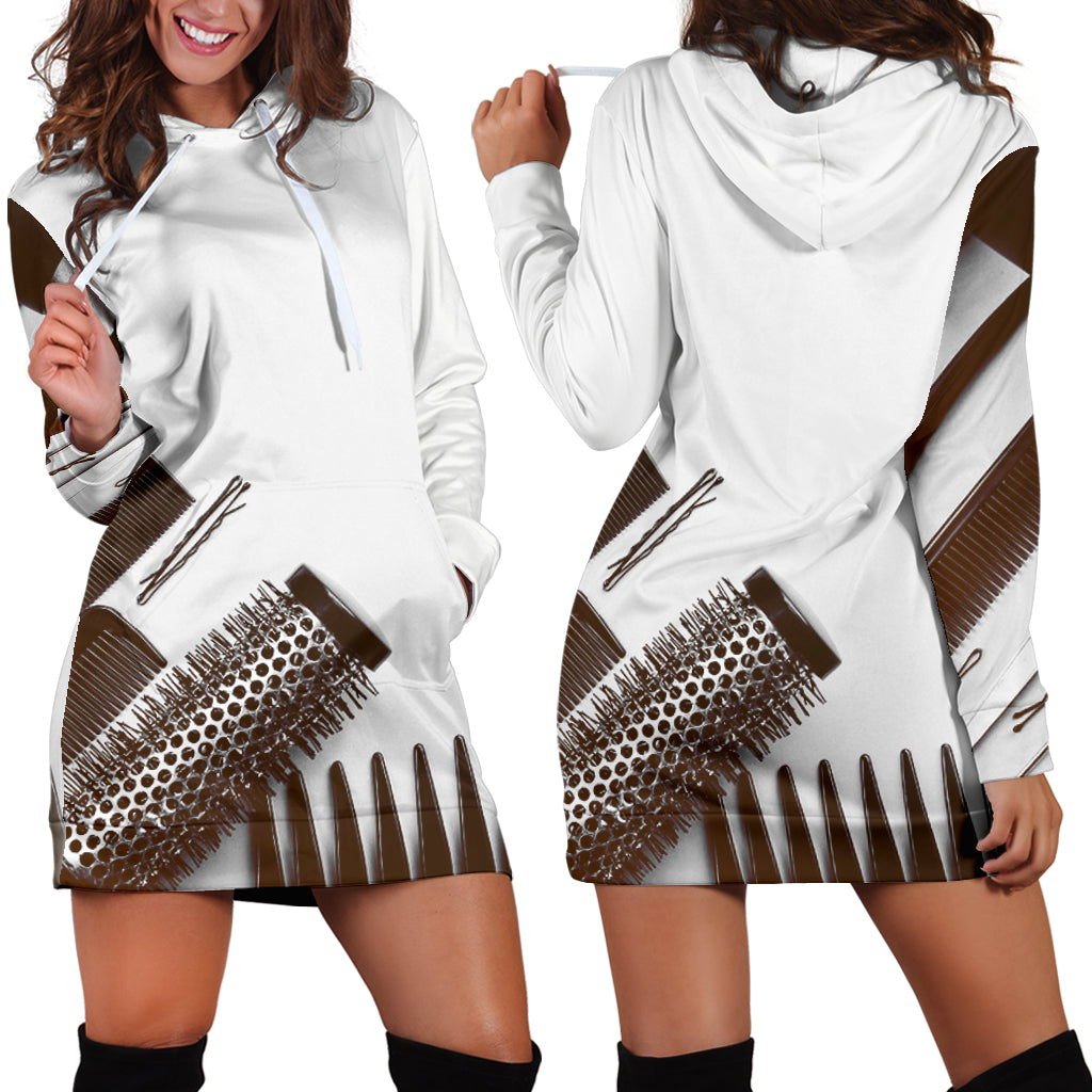 Hair Equipment Hoodie Dress - Hairstylist Bestseller