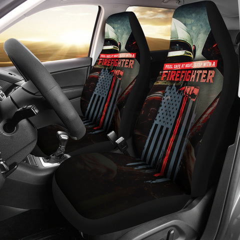 Sleep With A Firefighter Car Seat Covers (set of 2)