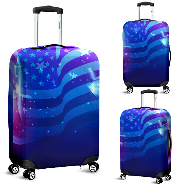 Abstract USA Luggage Cover