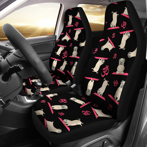 Yoga Pug Car Seat Covers (set of 2)