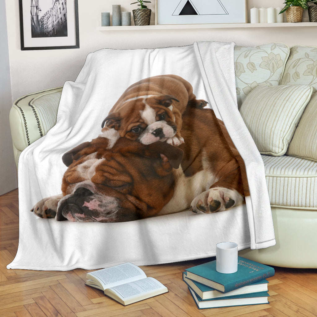Tired Bulldogs Premium Blanket