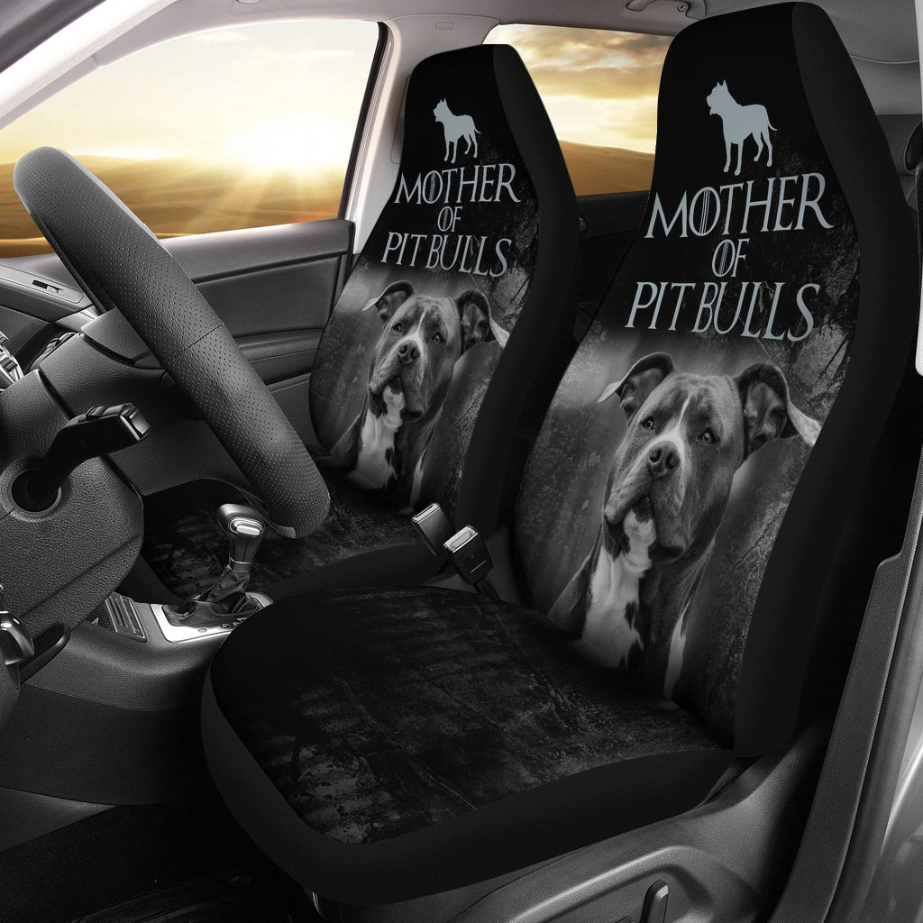 Mother of Pit Bulls Car Seat Covers (set of 2)