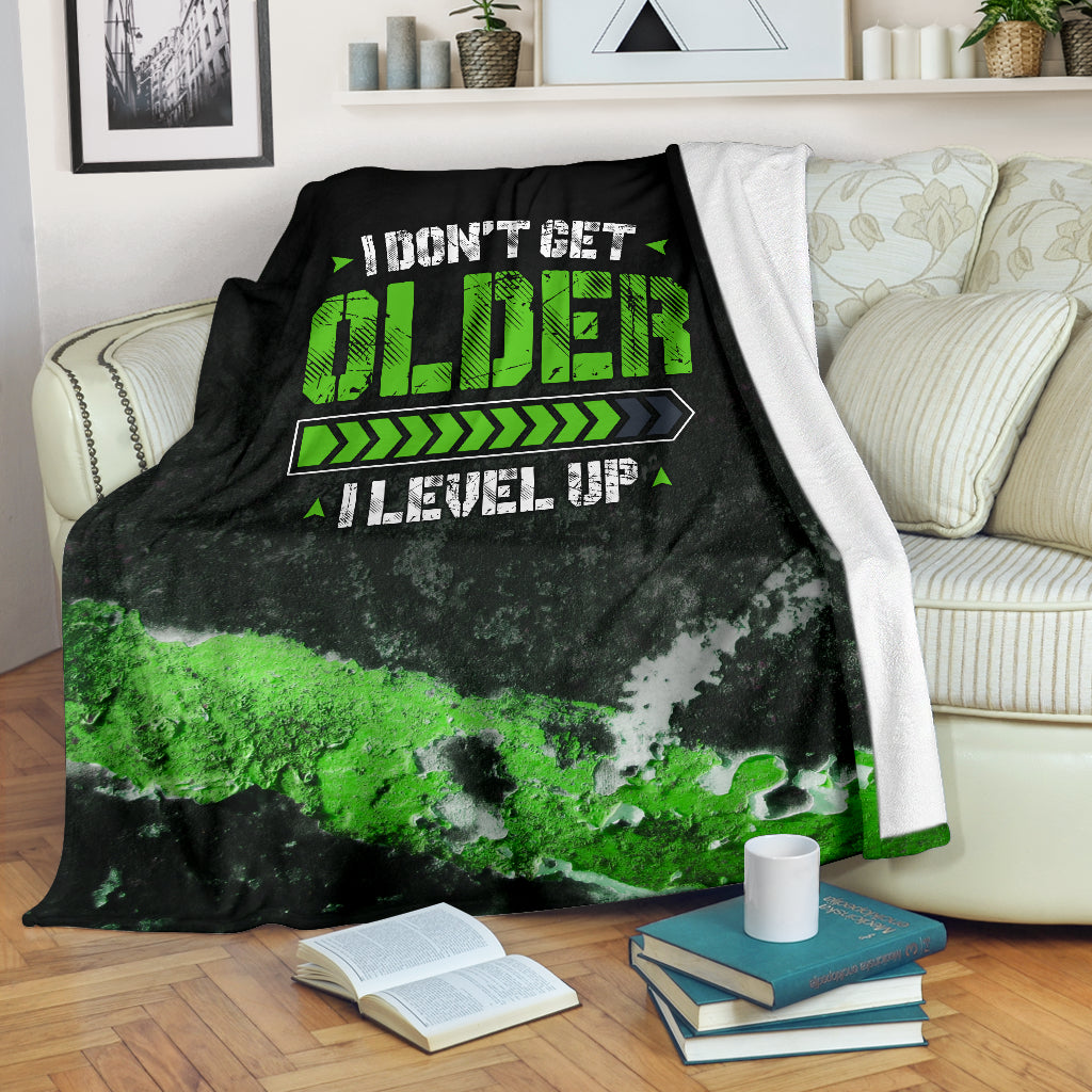 I Don't Get Older I Level Up Premium Blanket
