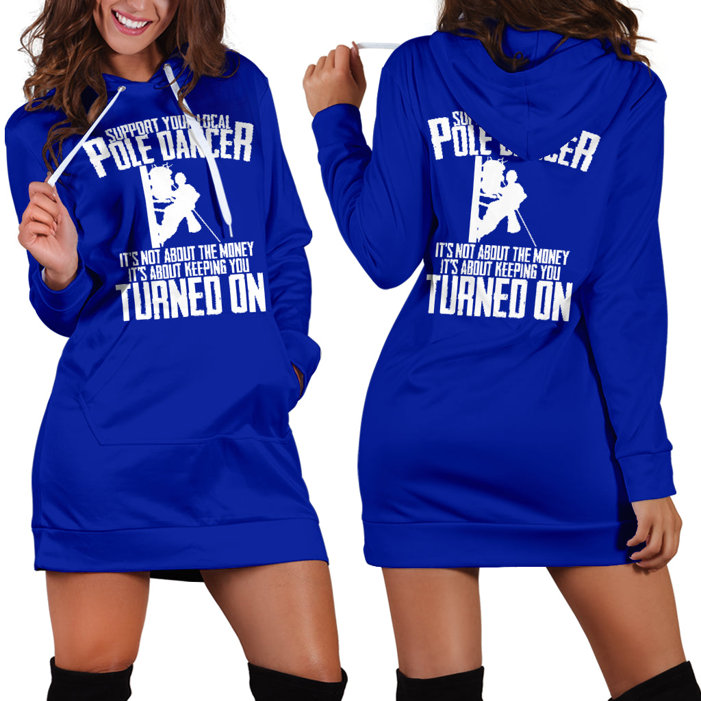 Pole Dancer Support Hoodie Dress