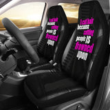 I Cut Hair Because Car Seat Covers (set of 2)