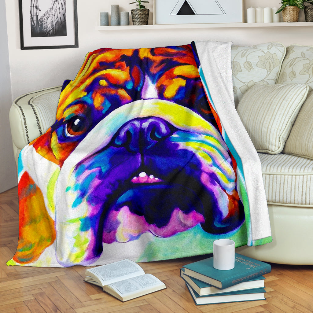 Bulldog Art Premium Blanket