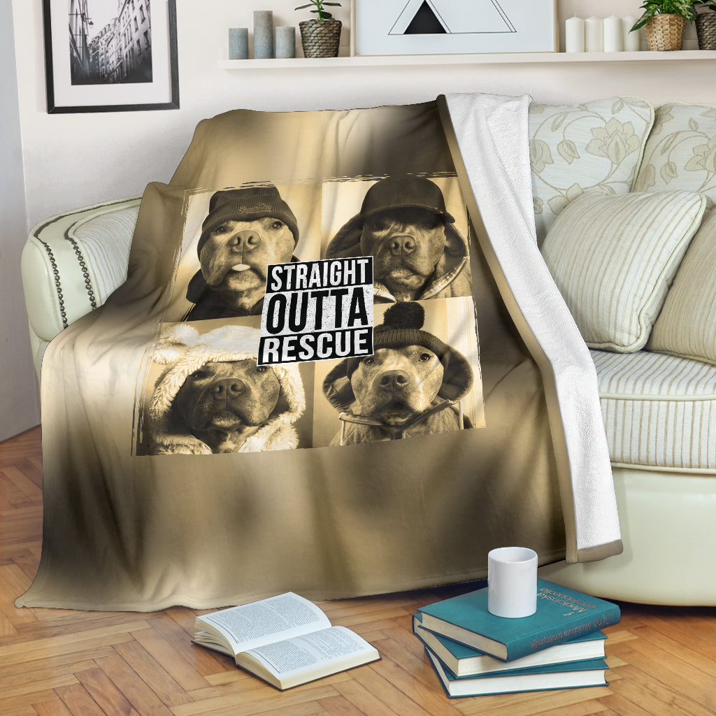 Straight Outta Rescue Premium Blanket