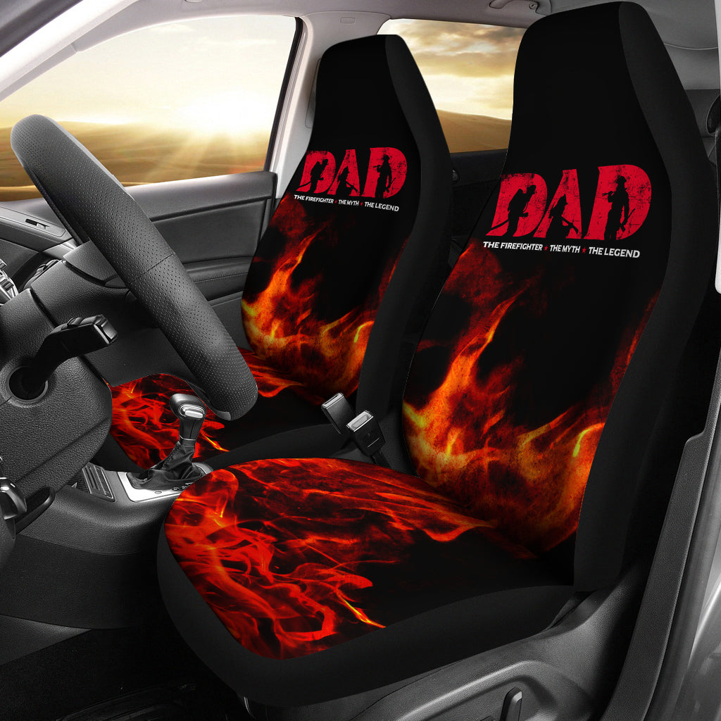Firefighter Dad Car Seat Covers - firefighter bestseller