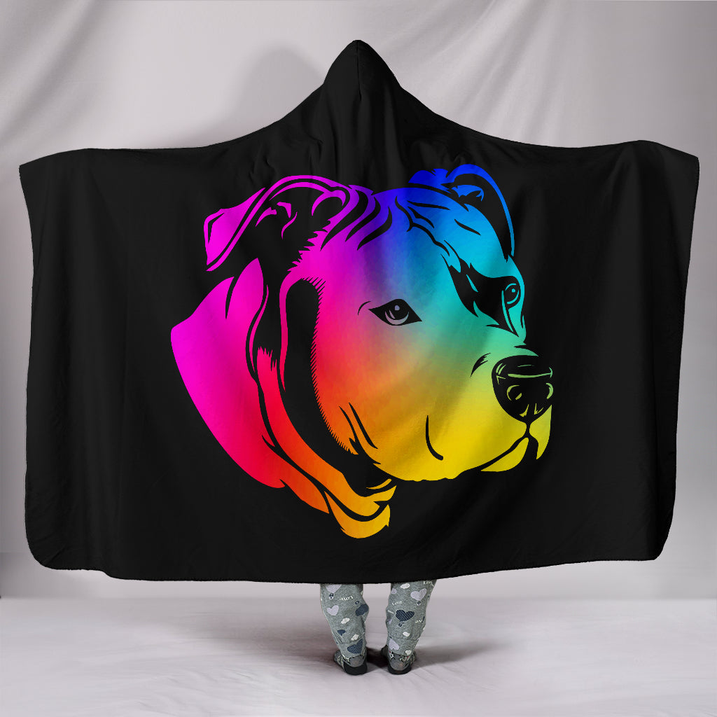 Rainbow Pit Hooded Blanket